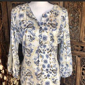 Liz Claiborne Tunic Blouse Size Large